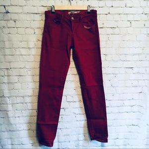 Zara core denim red pants